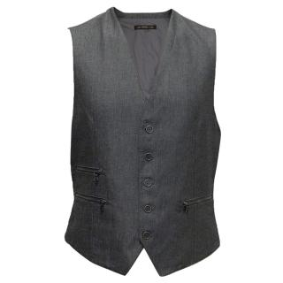 Grey Waistcoat with Zippers