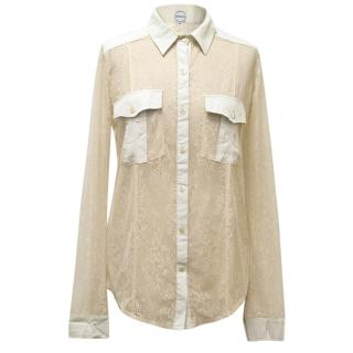 Finders Keepers Lace Button Up Shirt