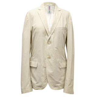 Kenzo Cotton-Silk Beige Jacket