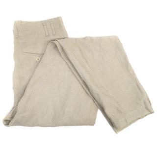 Kenzo Defile Beige Trousers