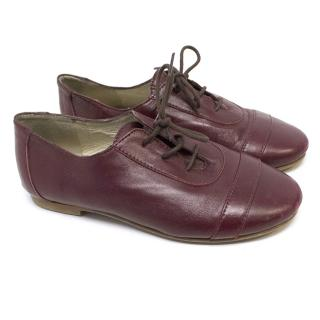 Marie Chantel Red Leather Shoes