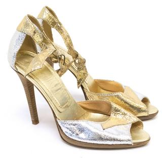 Casadei Silver and Gold Heels
