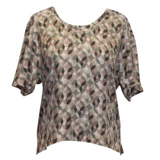 Margaret Howell Olive and Pink Patterned Top