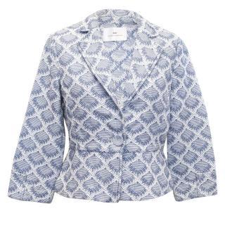 Day by Birger et Mikkelsen Blue and White Pattern Jacket