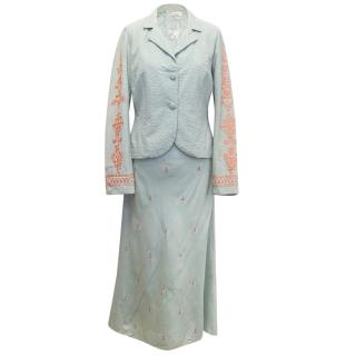 Megan Park Duck Egg Dress and Matching Jacket