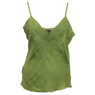 Day Birger et Mikkelsen Green Embroidered Top