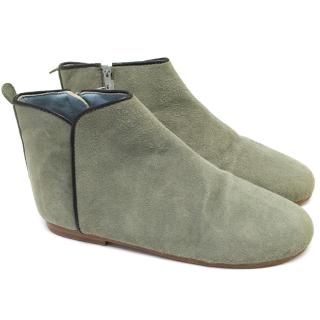 Marie Chantal Green Suede Boots