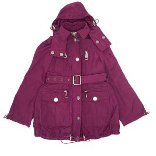 Burberry Girls Zipped Parka Coat