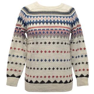 Isabel Marant Patterned Wool Blend Jumper