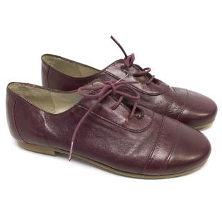 Marie Chantel Children's Red Leather Shoes