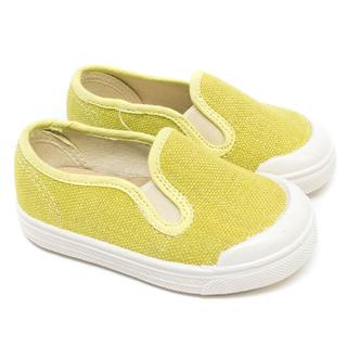 Marie Chantal Baby Yellow Canvas Slip-ons