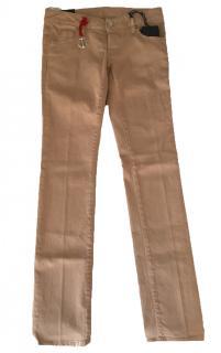 Dsquared beige slim leg jeans