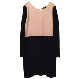 Club Monaco Pale Pink And Black Dress
