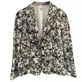 Caroline Charles Monochrome Rose Print Jacket