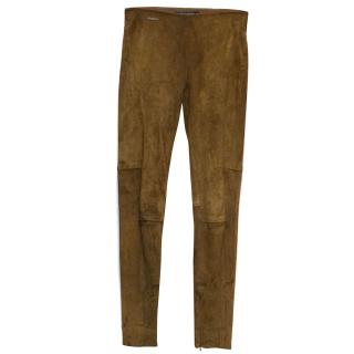 Ralph Lauren suede stretch pants