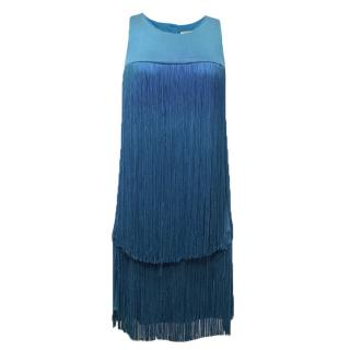 Issa Blue Fringed Dress
