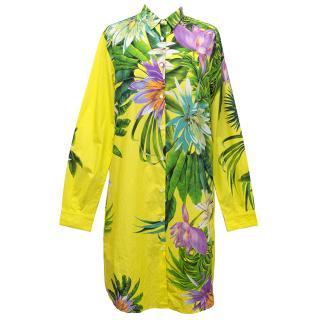 MSGM Floral Long Shirt