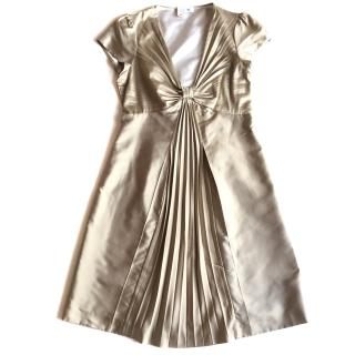 Moschino satin dress with pleats