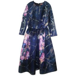 MSGM navy/floral dress