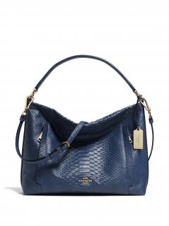 COACH Embossed Python Scout Hobo