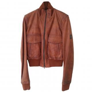 Belstaff Tan Leather Jacket