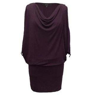 Gucci purple soft cowl dress