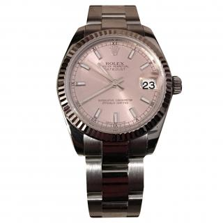 Rolex Date Just Ladies 2010 with box and Rolex Service Cerificate
