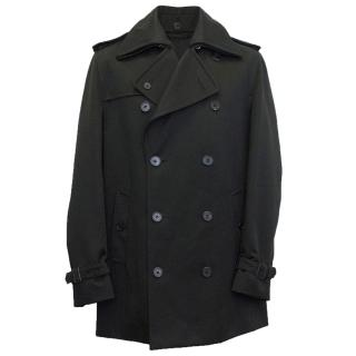 Louis Vuitton Black double breasted coat