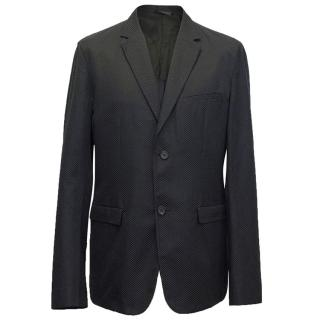 Jil Sander black and navy textured blazer
