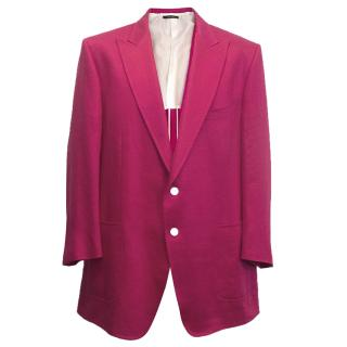 Tom Ford Men's Fuchsia linen jacket