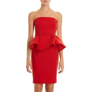 Lanvin Runway Red Peplum Dress