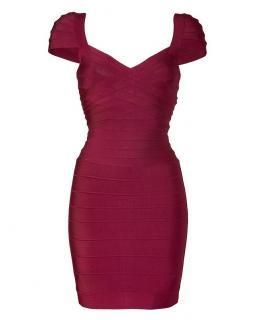 Herve Leger Berry Bandage Dress