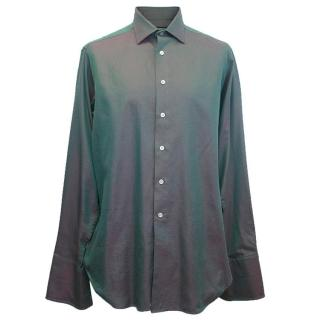 Richard James Men's Red and Green two-tone shirt