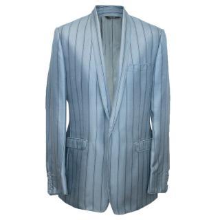 Men's Dolce and Gabbana Blue pinstripe blazer