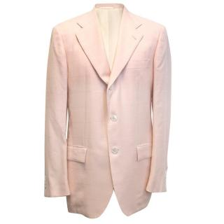 Kiton Men's pink cashmere blazer