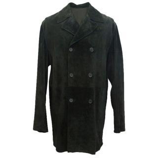 Prada Men's Bottle green chamois coat