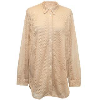 Acne Studios mesh nude blouse