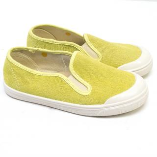 IMarie Chantel Girls Yellow Canvas Slip Ons