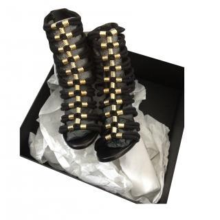 Balmain x H&M gladiator black heels