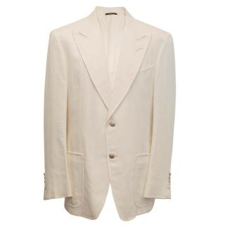 Tom Ford Men's Cream Blazer