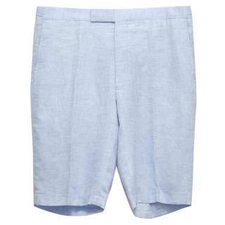 Richard James Blue linen shorts