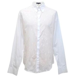 Rajesh Pratap Singh White Embroidered Shirt