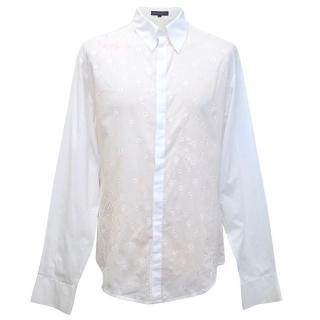 Rajesh Pratap Singh White Embroidered Shirt