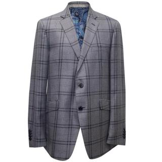 Etro men's double breasted blazer
