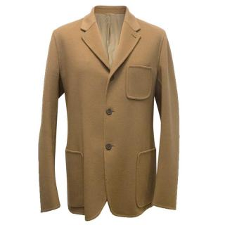 Jil Sander men's tan wool blazer