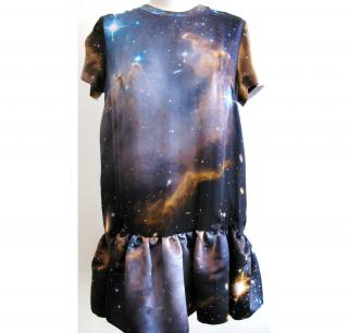 Christopher Kane galaxy print silk dress