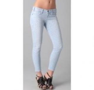 Current Elliot Stiletto Pastel Leopard Jeans