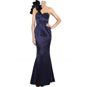 Rachel Gilbert   Eva one-shouldered gown