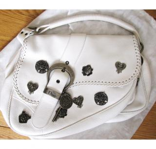 Dior Gaucho  Limited Edition White Handbag