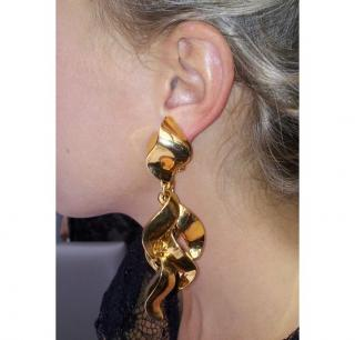 Gold plated multi drop earrings new